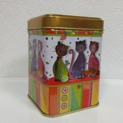 Boite à thé-Chat doré-100g