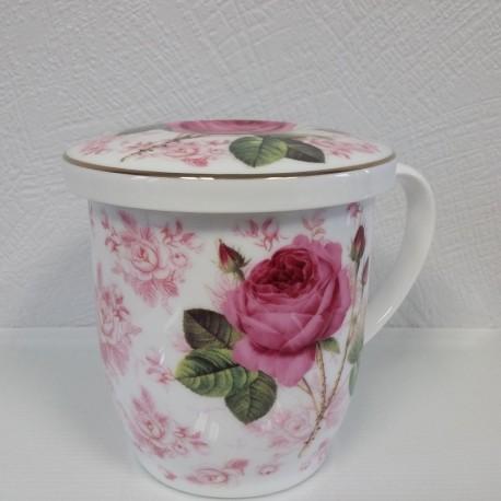Tisanière Rose-Porcelaine de chine-Le flot des saveurs