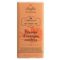 Noir 60% écorces d'oranges confites